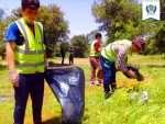 پاکسازی پسماندها در تفرجگاه جنگلی بیلو توسط همرکابان سبز ادآ