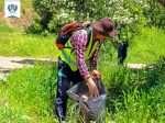 پاکسازی پسماندها در تفرجگاه جنگلی دره وران - اردوی 6 همرکاب سبز